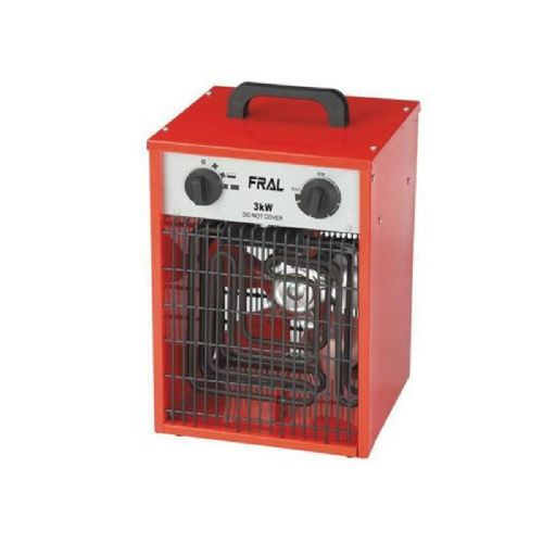 Fral UK FEH030 Industrial Electric Fan Heater With Adjustable Thermostat (3kW / 12000Btu) 240V~50Hz